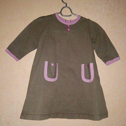 blouse E marron rose
