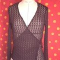 gilet en tissu dentelle