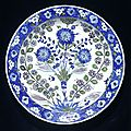 Dish, iznik, turkey, ca. 1540