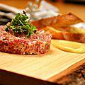 Tartare de cerf rouge de boileau (inspiration du restaurant les zèbres)