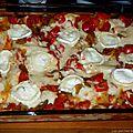 Lasagnes chèvre-courgettes-poivrons