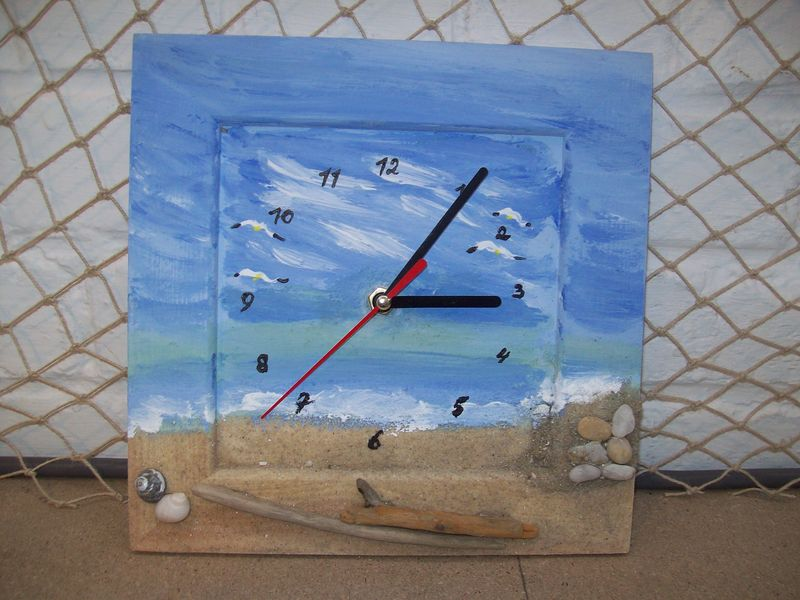 Horloge d coration marine thierry doyen fabricant de for Decoration marine bois