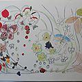 Argile chaize-vernier - collage sur toile