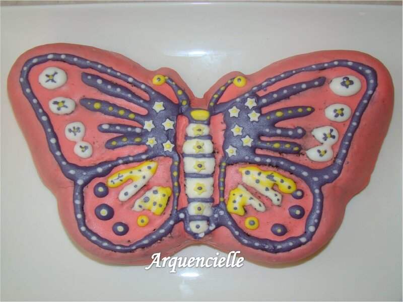 Gateau papillon decoupage
