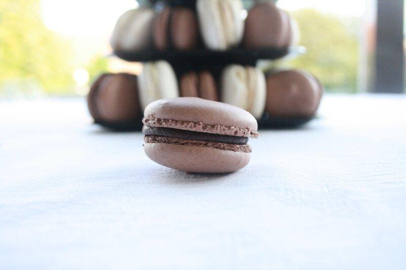 pyramide macaron cacahuete chocolat (2)