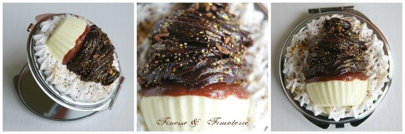 miroir de poche cup cake chocolat