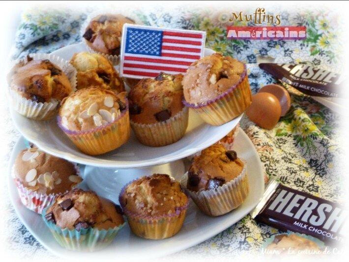 """ღ """" Miam """" Muffins américains { au chocolat Hershey's }"""