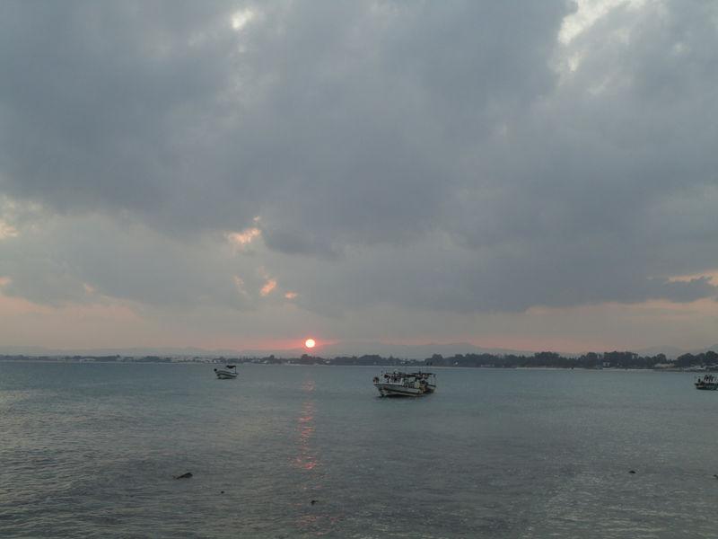 Le coucher de soleil du lundi 15 août 2011