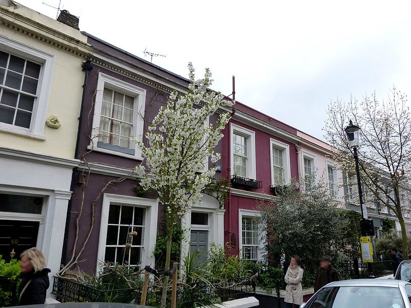 NOTTING HILL MAISONS COLORES AU PRINTEMPS