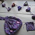 Un petit peu de couture mais tout violet s'il vous plait