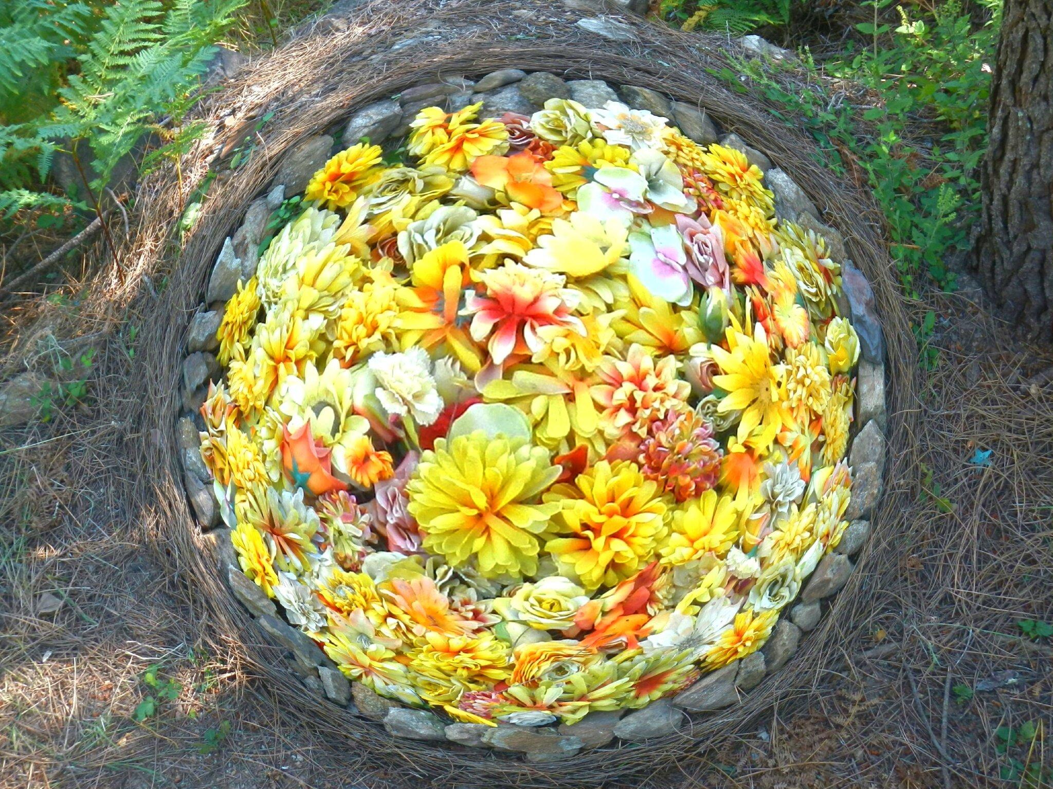 cercle de fleurs jaune 2
