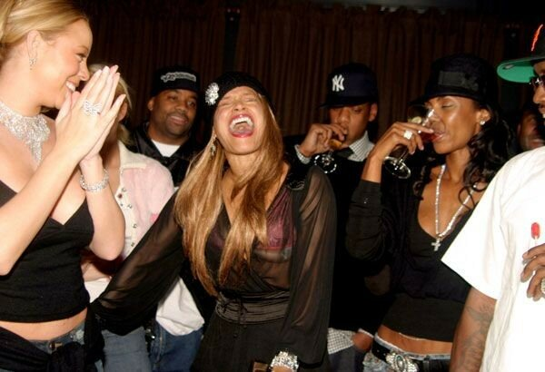 Jay-Z, Blu Cantrell, Damon Dash and Peaches