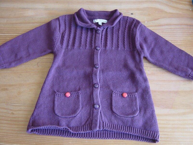 12m gilet violet Kitchoun