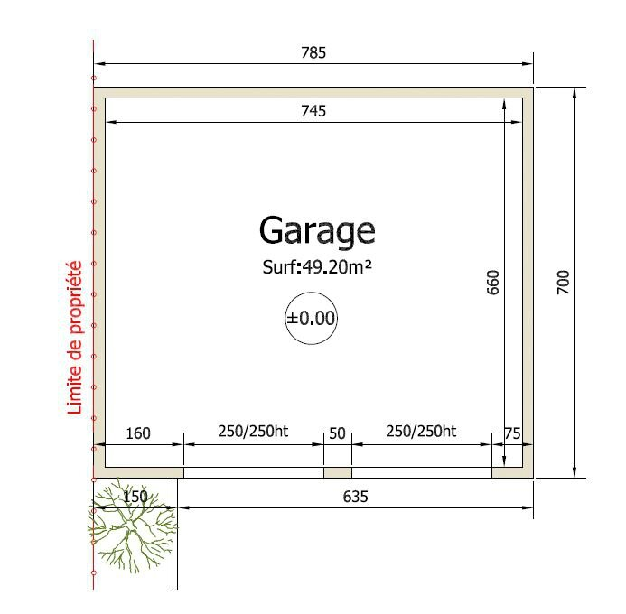 Schema construction garage for 3d garage builder
