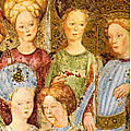 16 - MONZA - Duomo -chapelle Theodelinde 1444 fresques de Zavattari - detail