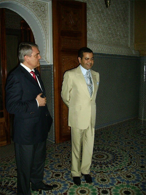 Rabat July 10, 2006 - HRH Prince Moulay Rachid, the heir second in line of succession to the throne, received here on Monday, Bulgarian Interior Minister, Rumen Petkov.