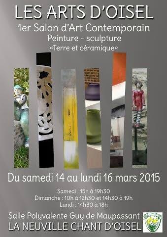 affiche expo la Neuville Chant d'Oisel