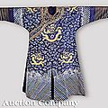 A chinese blue gauze summer dragon robe, ji fu, probably qing dynasty (1644-1911)