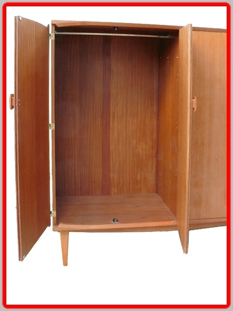 grande armoire penderie dressing vintage scandinave vendue. Black Bedroom Furniture Sets. Home Design Ideas