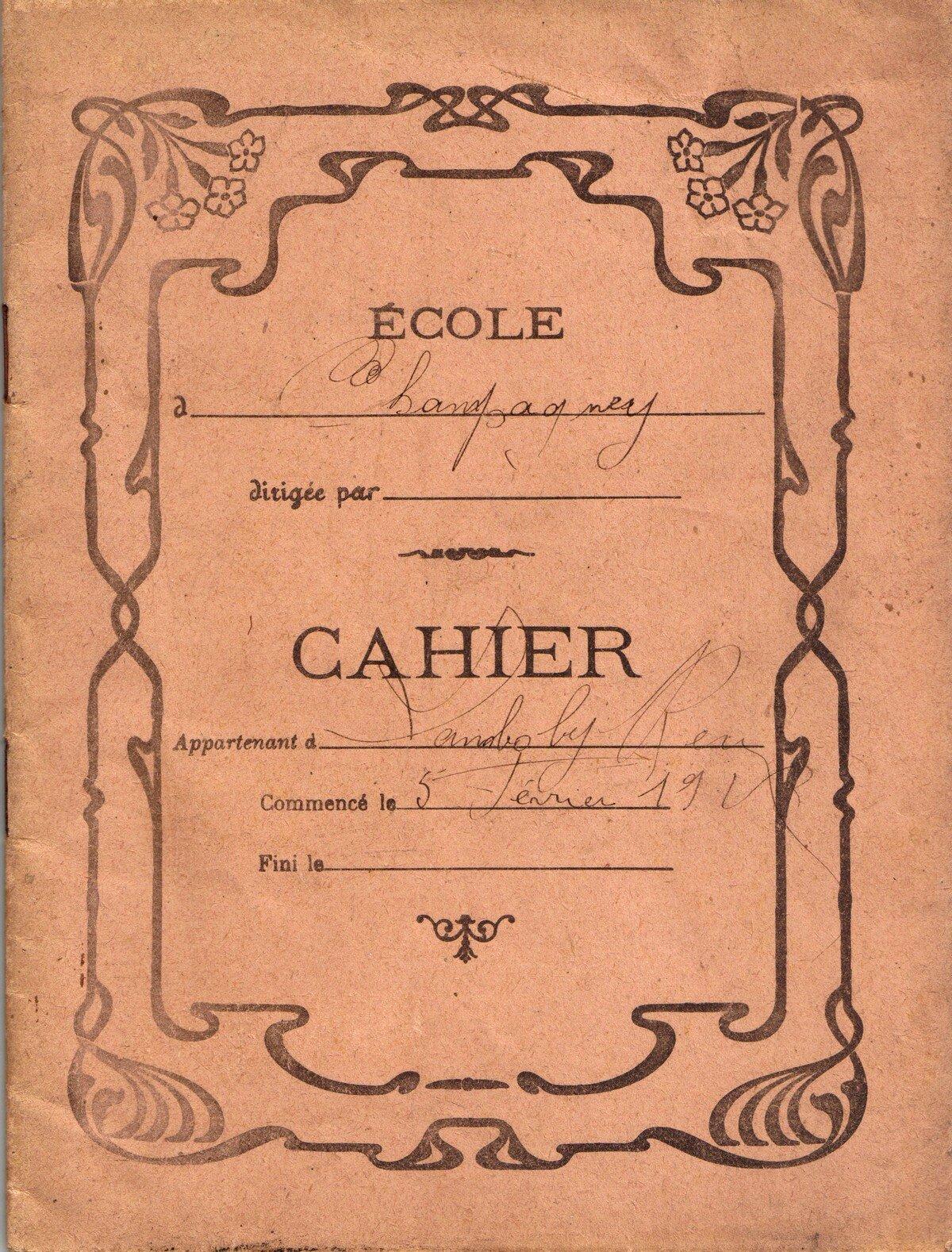 cahier ancien