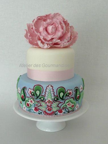 Gâteau Nina et Mila design Mila