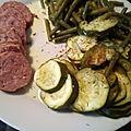 Saucisse de morteau et ses légumes cuisson vapeur