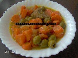Mon boeuf carottes/olives