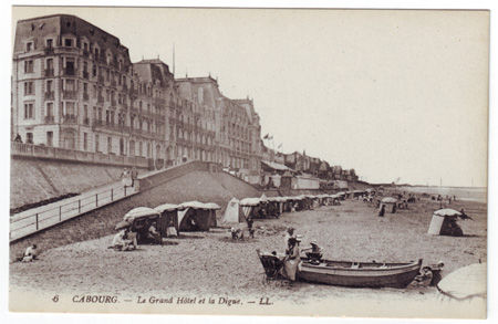 14 cabourg grand hotel et digue photo de calvados 14 cpa scans. Black Bedroom Furniture Sets. Home Design Ideas
