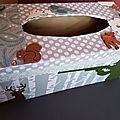Boîte à mouchoirs thème chasse