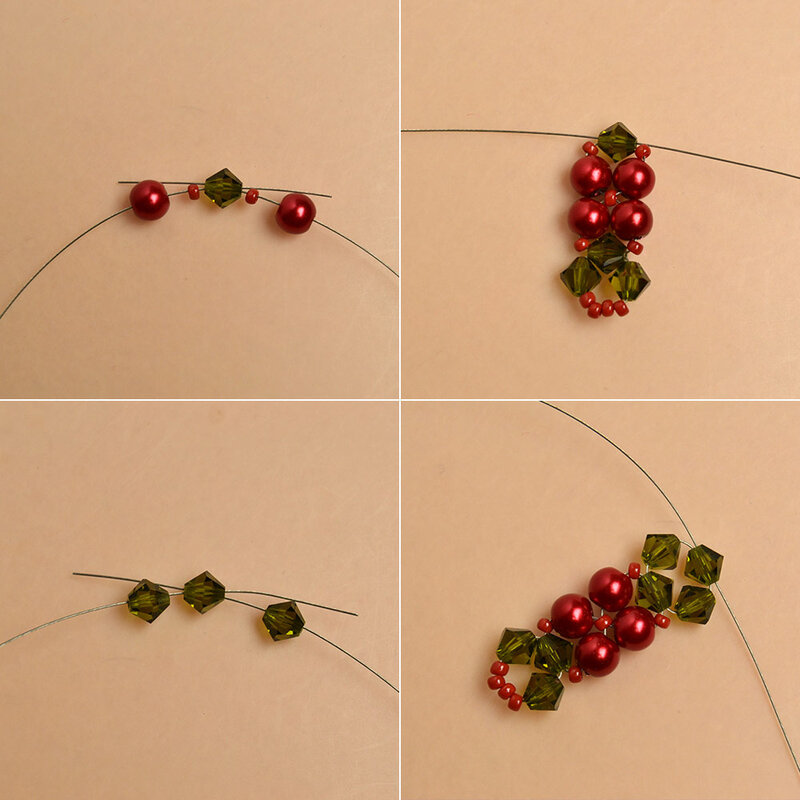 How-to-Make-a-Beaded-Christmas-Bracelet-with-Glass-Beads-and-Seed-Beads-3