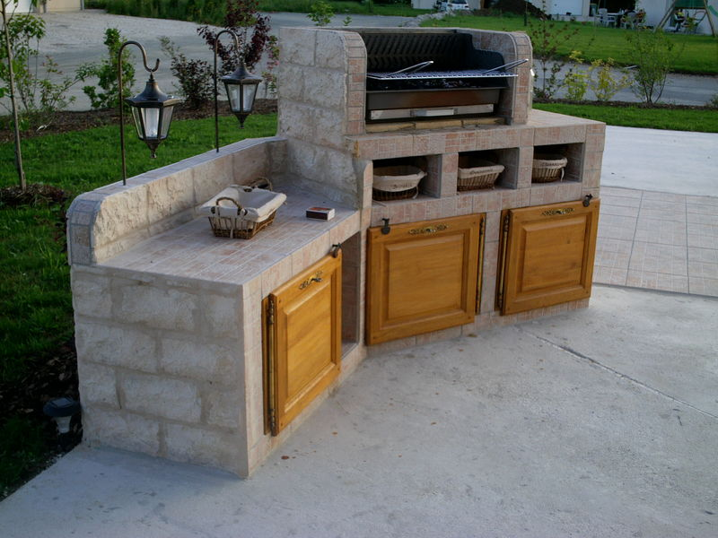 Barbecue album photos el matos constructions et passions - Construire son barbecue en beton cellulaire ...