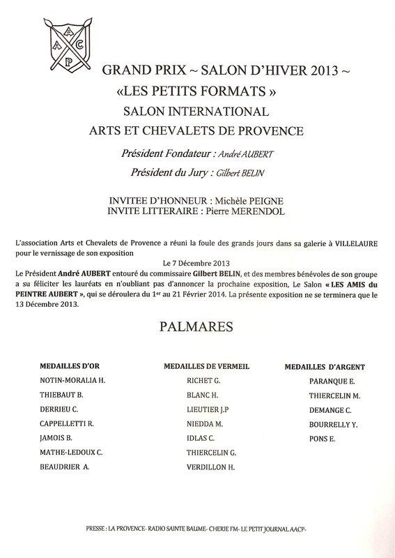 PalmarèsSalonHiver2013
