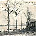 1231 - maison écroulée au barrage de port à l'anglais - inondations 1910.