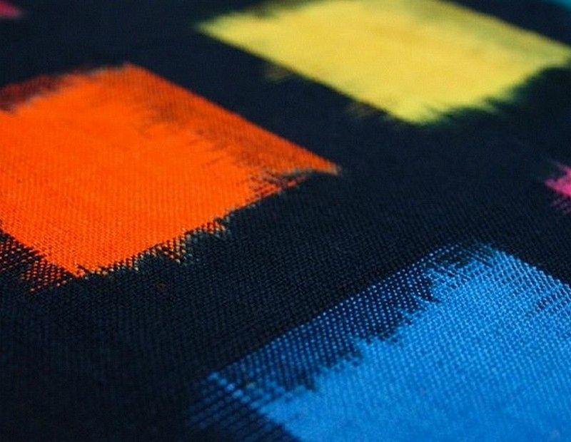 coton-noir-a-carres-multicolores 3
