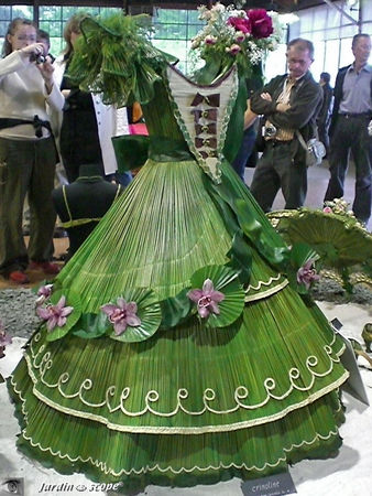 Une superbe robe végétale