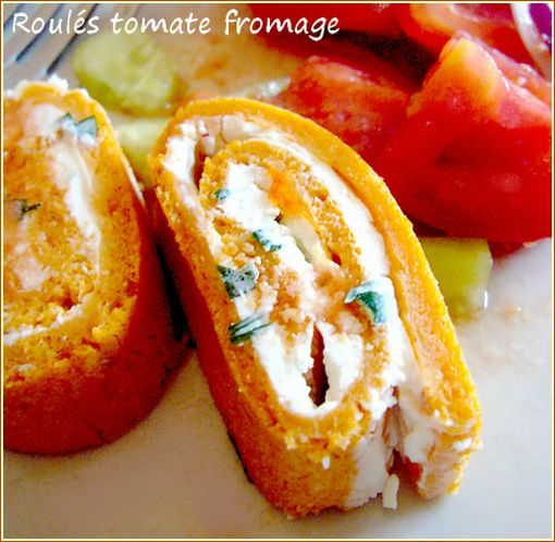 roulétomate fromage + salade pour blog