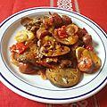 Aubergines et chorizos à la tomate