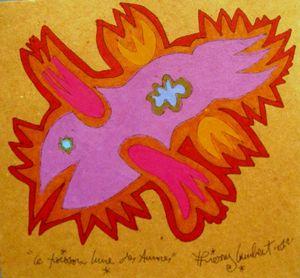 LAMBERT Le Poisson lune des aurores 2012 17,6 x 19