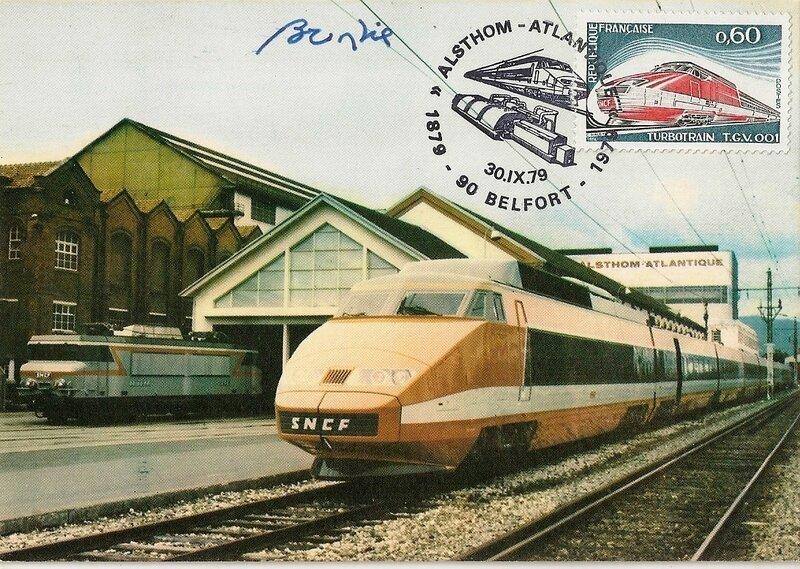 CPM TGV PSE Alsthom Belfort 1979 R