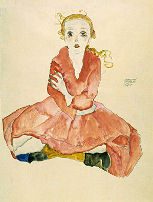 Schiele_fille__tant_assise_en_face_
