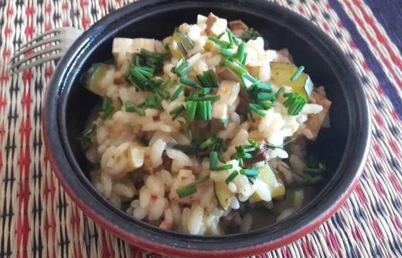 risotto courgette-tofu fumé (3)