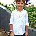 Chemise à encolure boutonnée pour un baptême