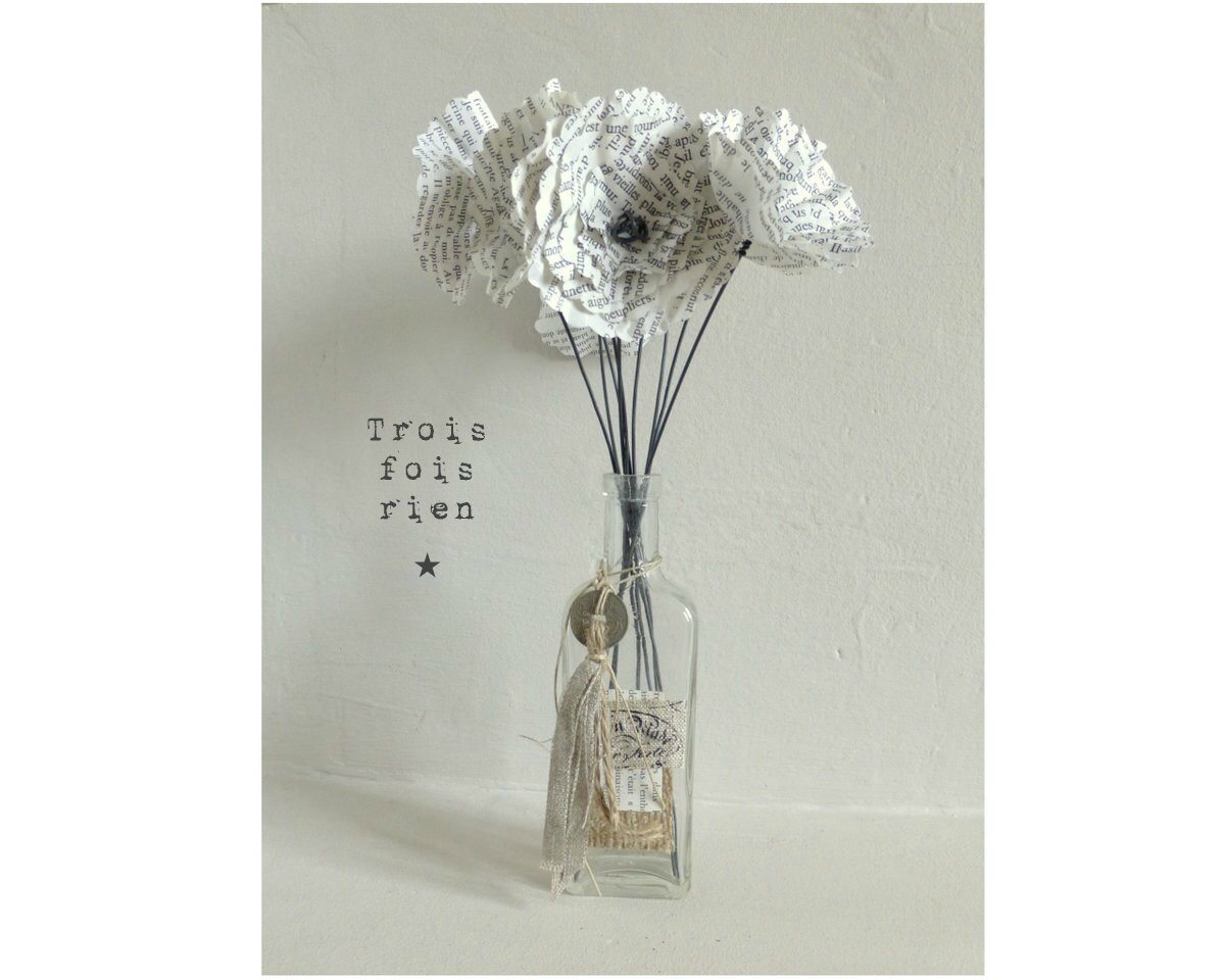 Fiole et fleurs papier 31
