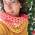 {crochet} mon snood vitaminé #jeudicreation