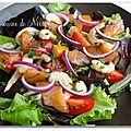 Salade folle saumon-crevettes, vinaigrette à l'orange