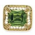 An antique peridot and gold brooch, by louis comfort tiffany, tiffany & co