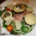 Chèvres chauds et aubergine en salade!