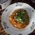 Compotée de tomates et oignons à l'aïl