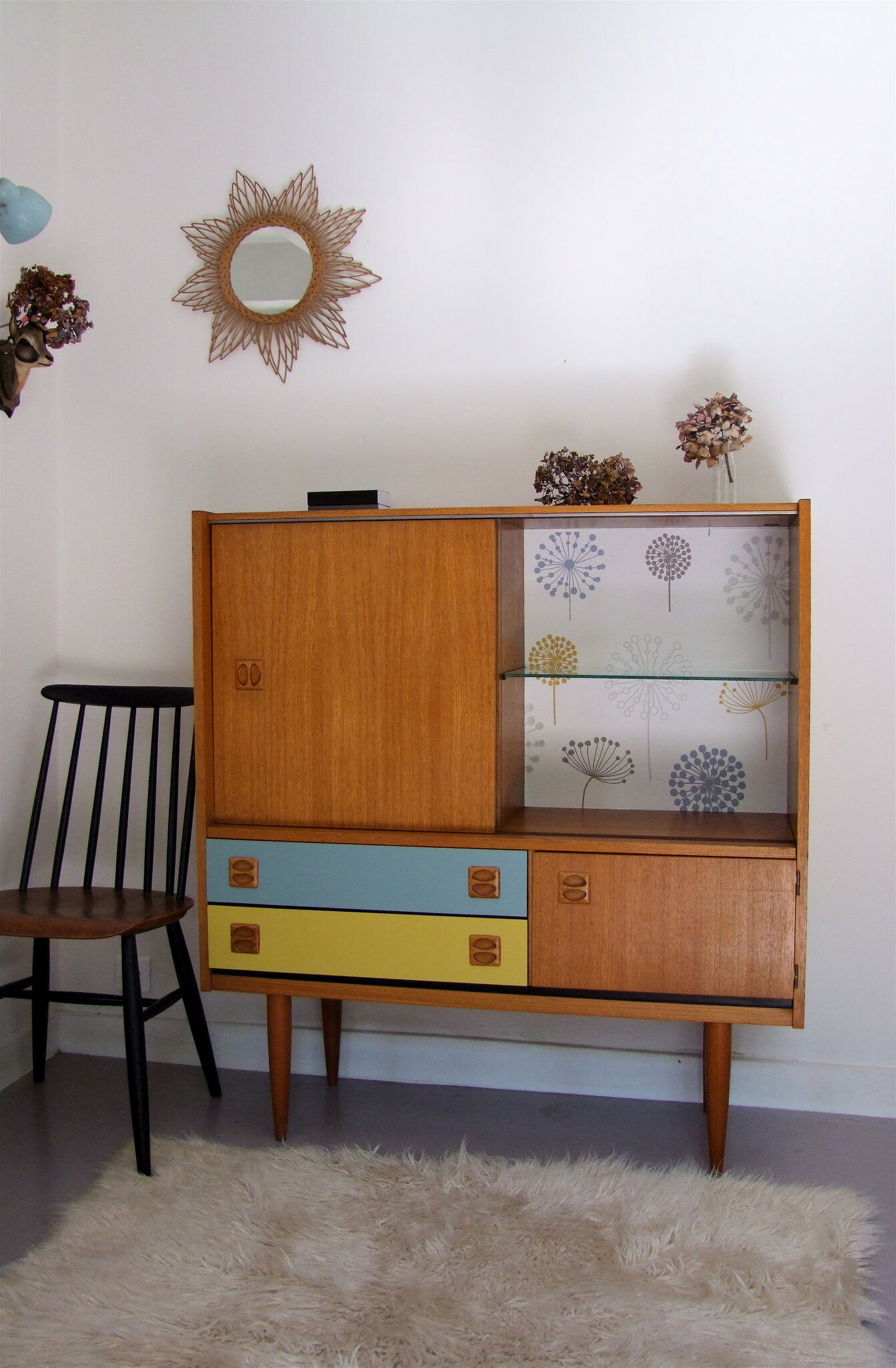 Enfilade scandinave haute ulgr nd meubles vintage for Meuble enfilade scandinave