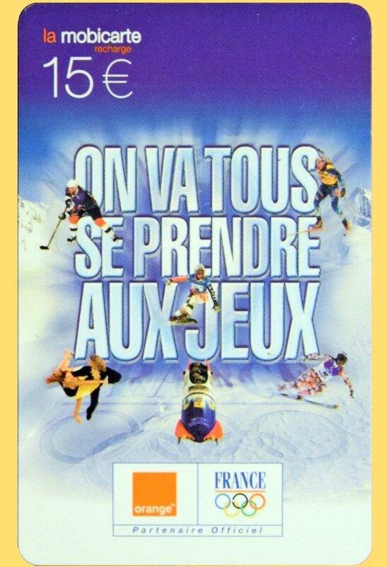 Télécarte France aux JO 2002